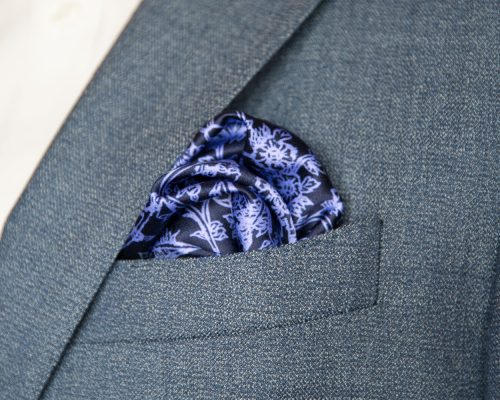 Signature Indigo Silk Hankerchief handmade by Kristen Loveday