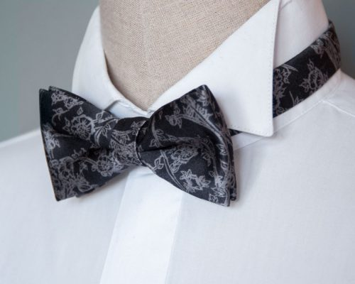 Signature Pebble Pre-Tied Bow Tie handmade by Kristen Loveday