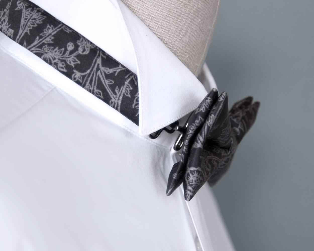 Signature Pebble Pre-Tied Bow Tie handmade by Kristen Loveday